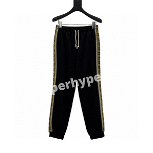 Gucci 20SS Side Double G Reflective Webbing Trousers