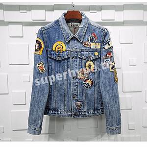 BAPE 19ss Crazy Patch Denim Jacket