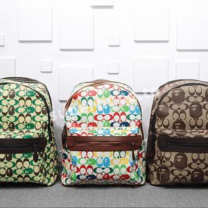 BAPE X Coach Signature Jacquard Backpack Bag