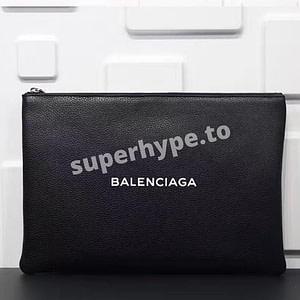 Balenciaga Logo Clutch Bag