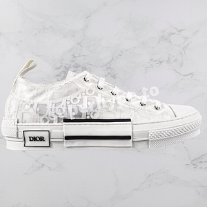 Dior B23 Oblique Low-Top Sneakers (White)