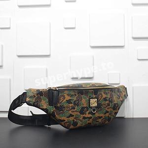 MCM X BAPE Stark Belt Bag in Camo Visetos