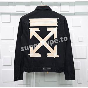 Off-White 2020SS Black Tape Arrows Denim Jacket